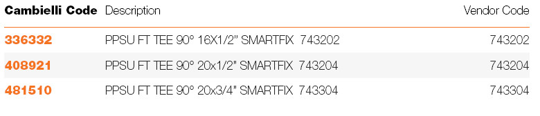 065 SMARTFIX PPSU FEMALE THREAD TEE specifications
