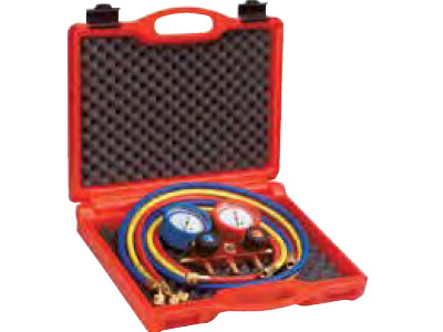 280 MANIFOLD SET 2-WAY w/PRESSURE HOSE+CASE