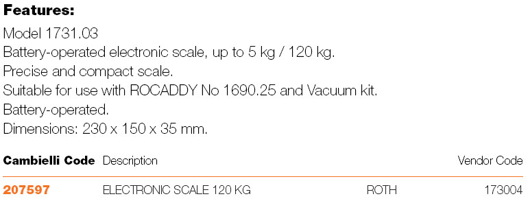 290 ELECTRONIC SCALES specifications